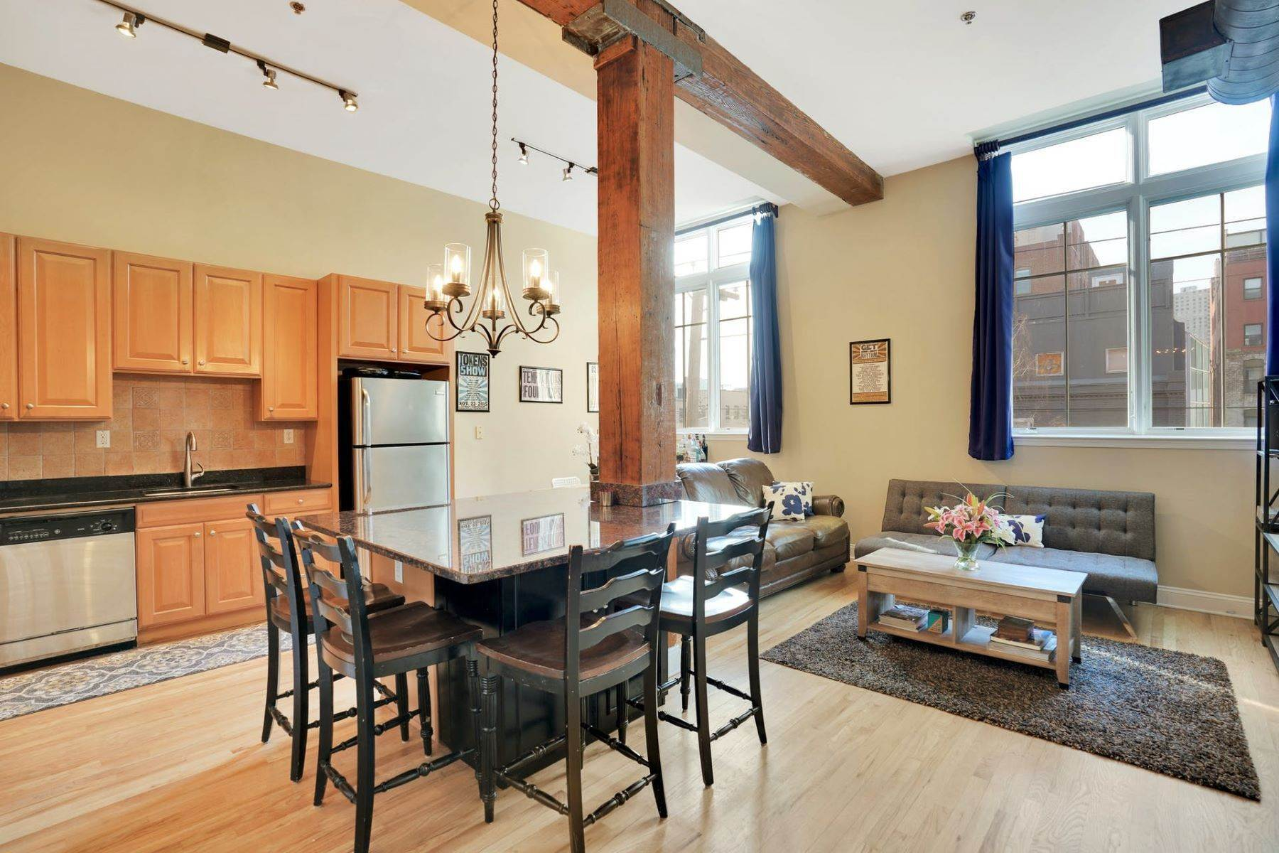 Condominiums for Sale at Loft Style 2BR + Parking! 1023 Clinton St. #3A Hoboken, New Jersey 07030 United States