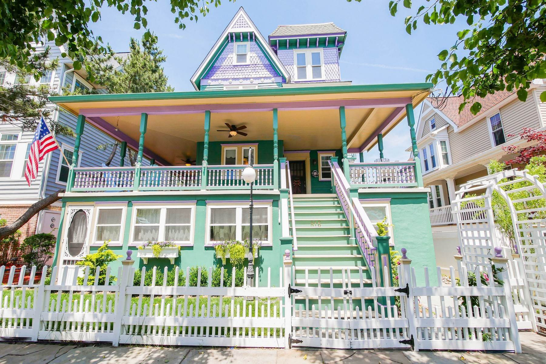 Multi-Family Homes for Sale at The Painted Lady Victorian Home 816 Wesley Ave Ocean City, New Jersey 08226 United States