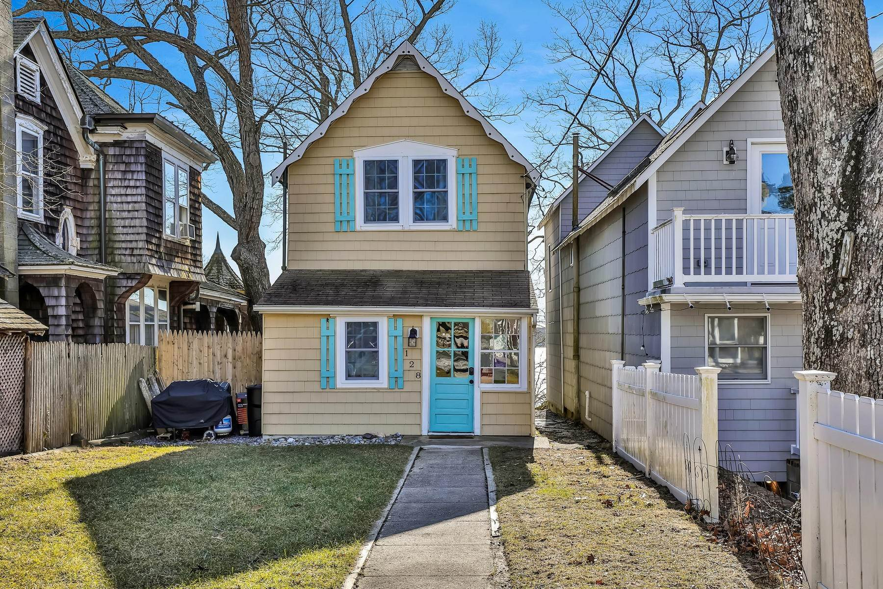Single Family Homes for Sale at Adorable Riverfront Cottage Style Home 128 E Camp Meeting Avenue Island Heights, New Jersey 08732 United States