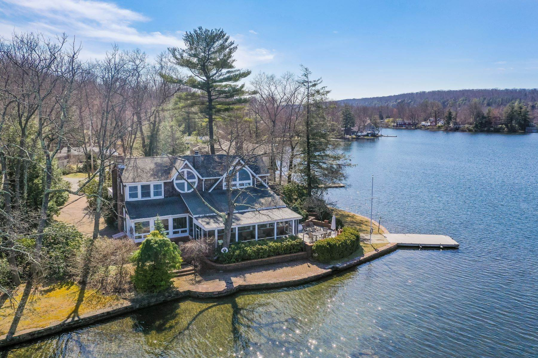 Single Family Homes for Sale at Breathtaking Lake Views 128 Lake End Road Rockaway Township, New Jersey 07435 United States