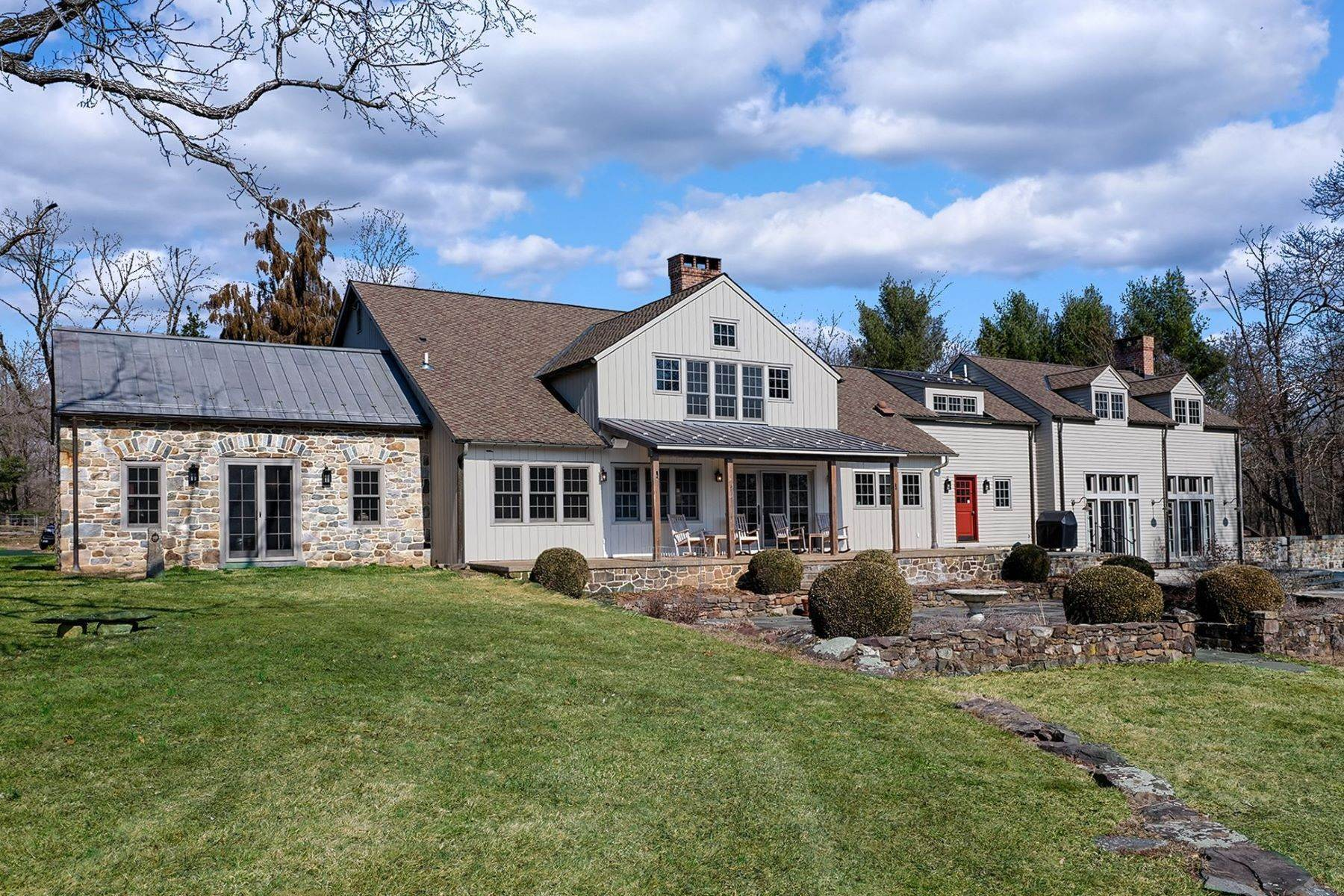 Farm and Ranch Properties for Sale at Idyllic Historic Farm With Rich, Modern Finishes 111 East Prospect Street Hopewell, New Jersey 08525 United States