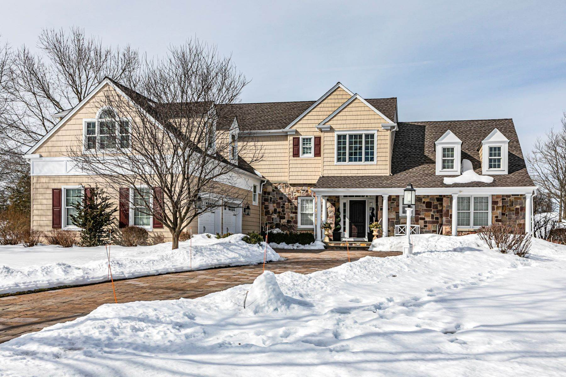 Single Family Homes for Sale at Luxury Abounds In This Impressive Cherry Valley Home 7 Augusta Court Skillman, New Jersey 08558 United States
