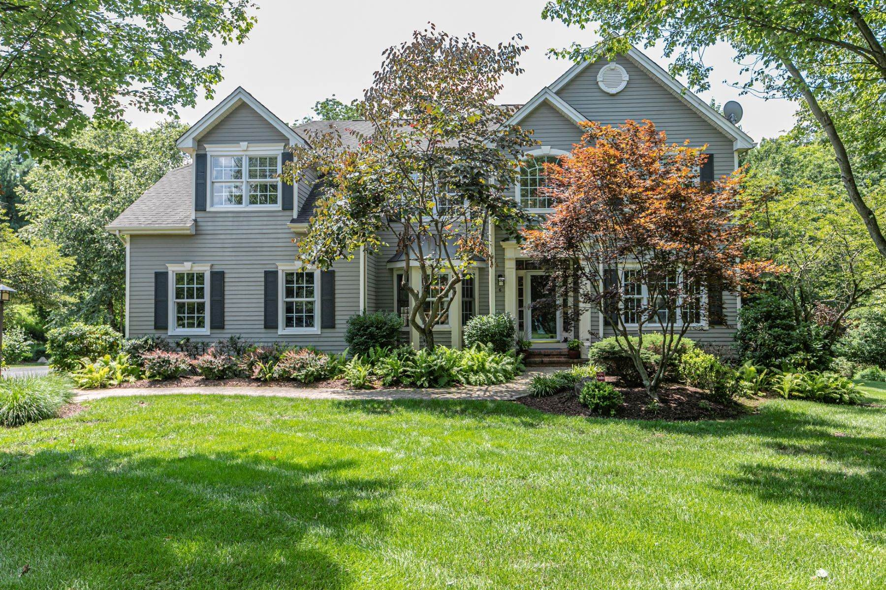 Single Family Homes for Sale at Resort-Style Entertainer In Cherry Valley 6 Eagle Creek Court Skillman, New Jersey 08558 United States