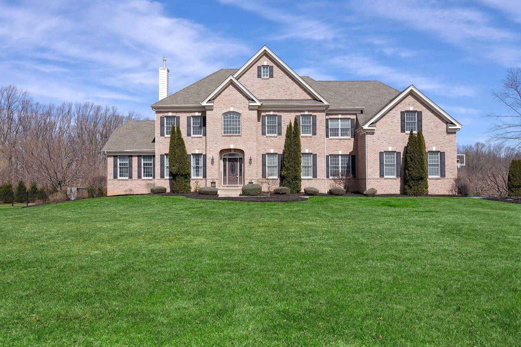 Single Family Homes for Sale at Soaring Spaces and Pool Views Wow All Who Enter 382 Old York Road Hamilton, New Jersey 08620 United States